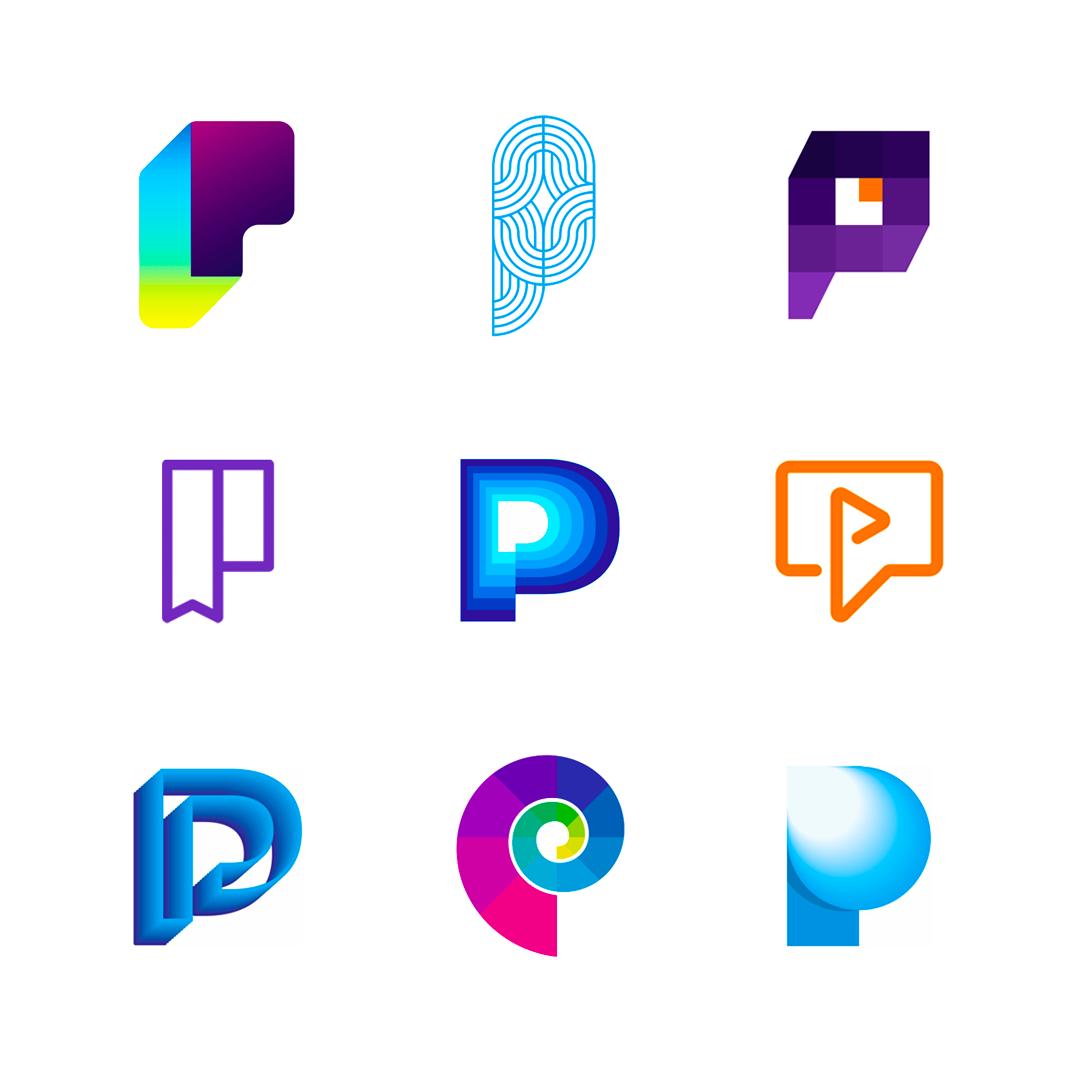 LOGO Alphabet P letter mark monogram logomark icon logo design by Alex Tass