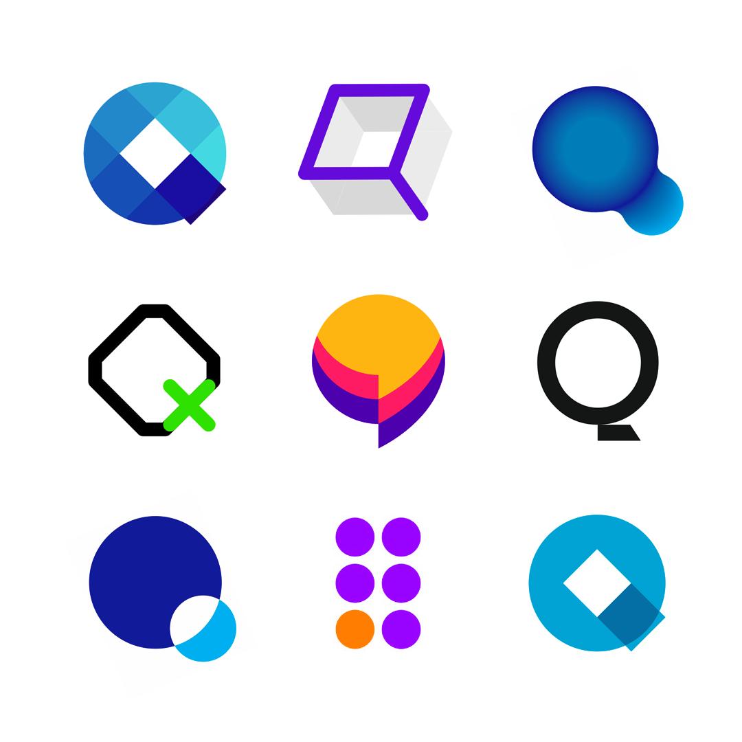 LOGO Alphabet Q letter mark monogram logomark icon logo design by Alex Tass