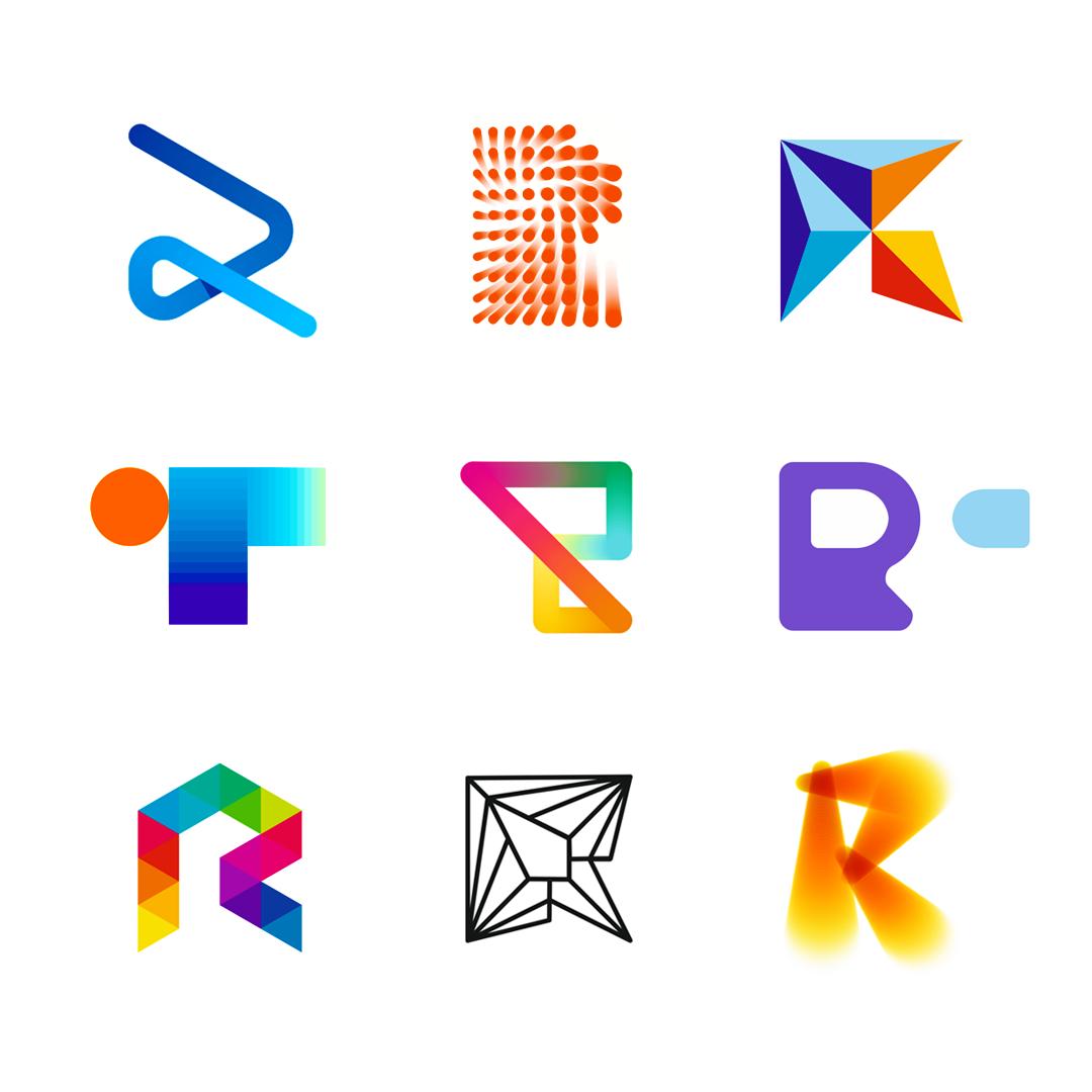 LOGO Alphabet R letter mark monogram logomark icon logo design by Alex Tass