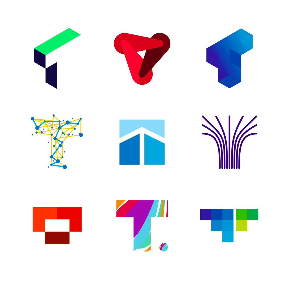 LOGO Alphabet T letter mark monogram logomark icon logo design by Alex Tass