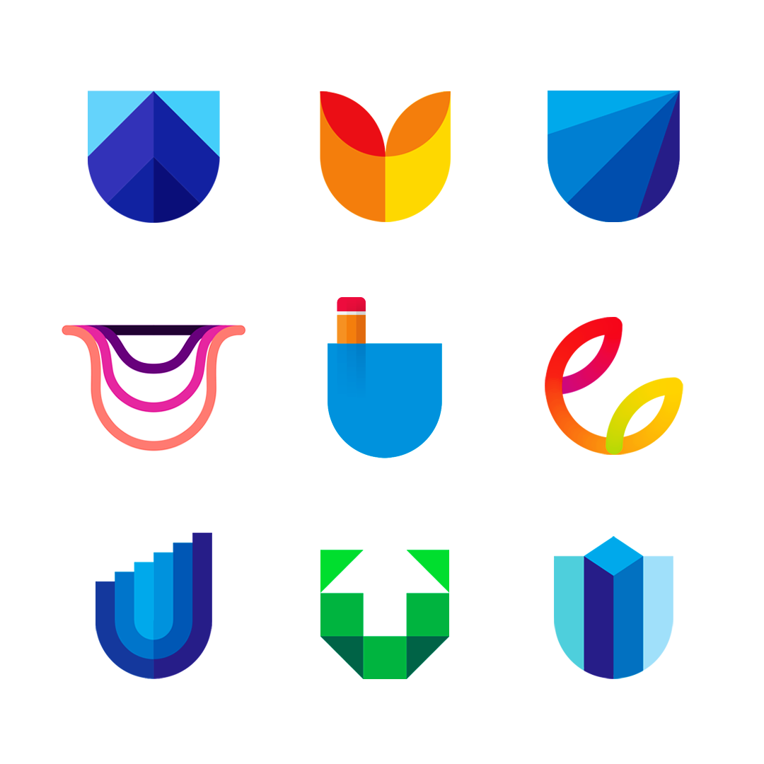 LOGO Alphabet U letter mark monogram logomark icon logo design by Alex Tass