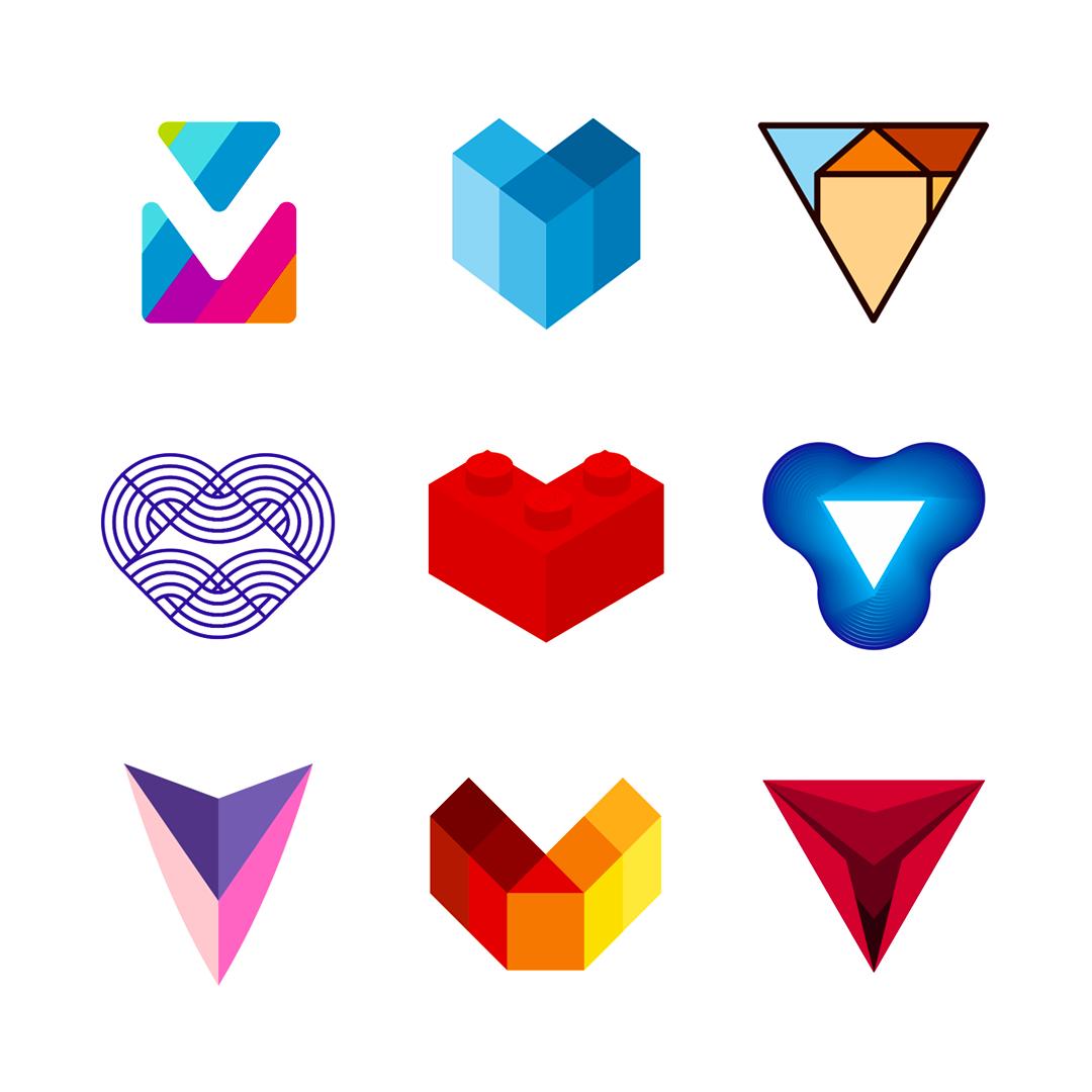 LOGO Alphabet V letter mark monogram logomark icon logo design by Alex Tass