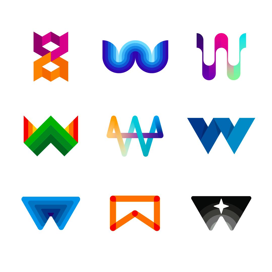 LOGO Alphabet W letter mark monogram logomark icon logo design by Alex Tass