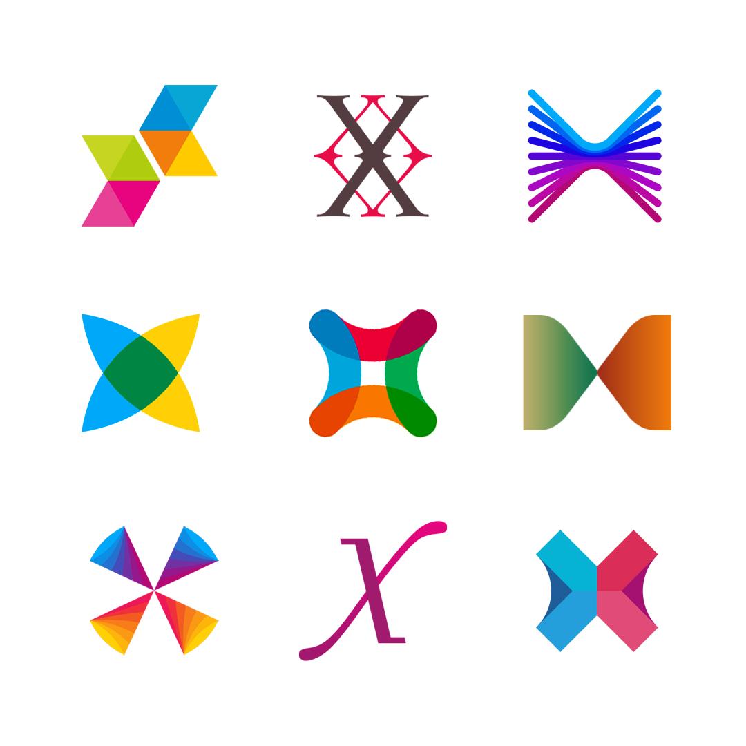 LOGO Alphabet X letter mark monogram logomark icon logo design by Alex Tass