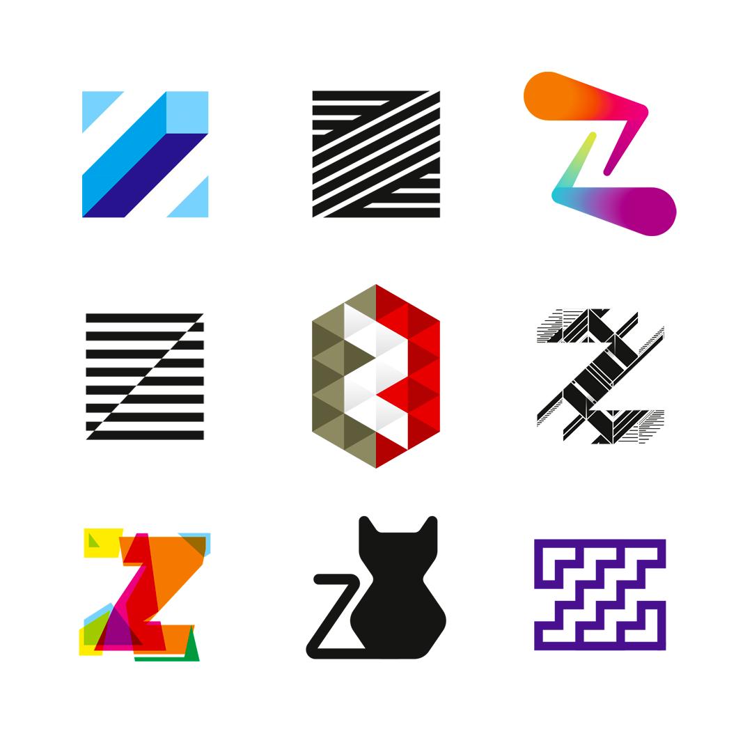 LOGO Alphabet Z letter mark monogram logomark icon logo design by Alex Tass