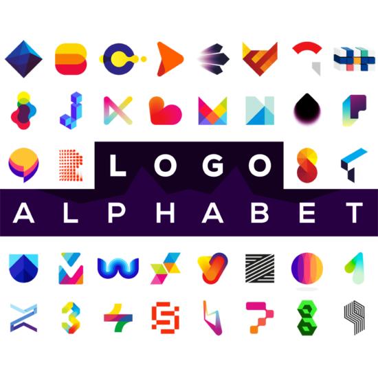 LOGO Alphabet letter mark monogram logos design by Alex Tass