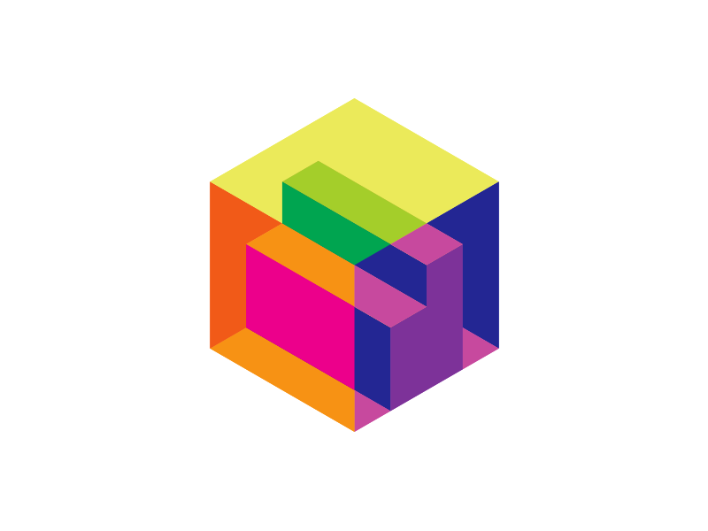 Letter d in a cube 3d scanner architecture logo design by Alex Tass