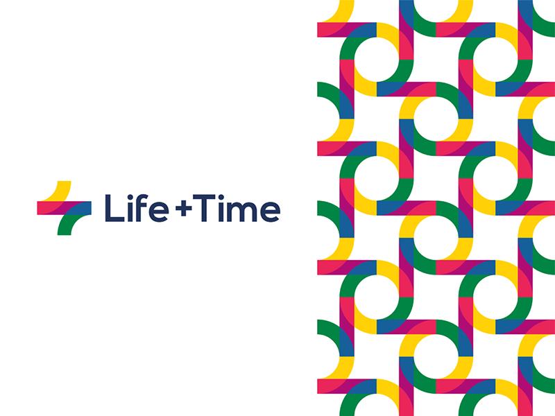 Life plus Time self improvement management app logo corporate pattern design by Alex Tass