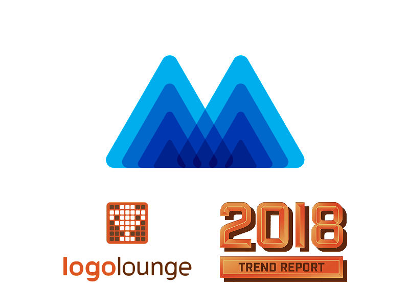 M for Mind Heroes mindfulness featured in LogoLounge logo design trends 2018 by Alex Tass