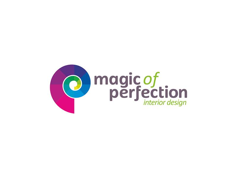 Magic of perfection interior design studio logo design by Alex Tass