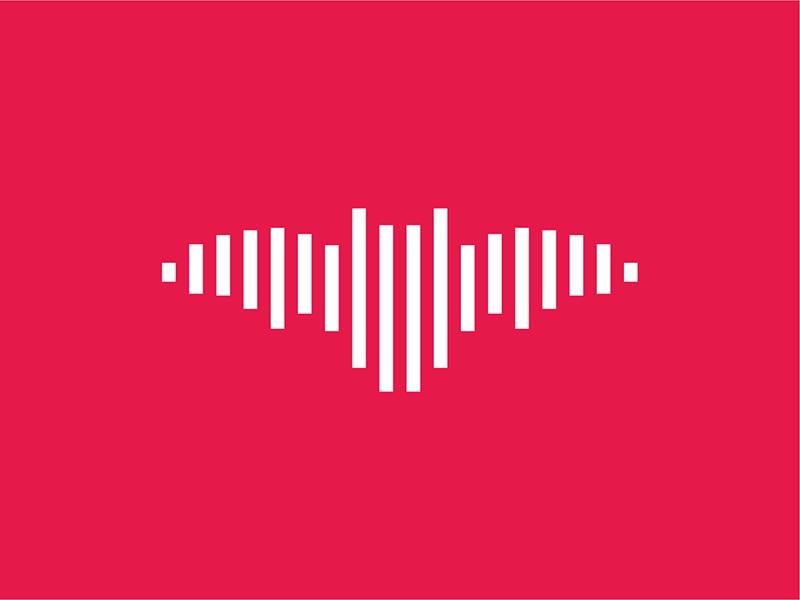 Music sound wave bat logo design symbol icon by Alex Tass