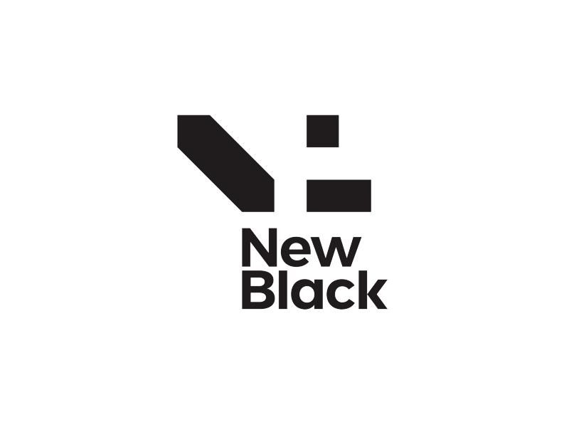 New black entertainment fun logo design by Alex Tass