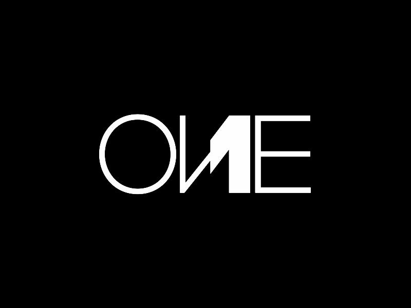 One 1 word mark logotype logo design by Alex Tass