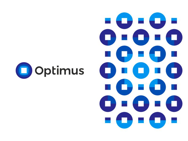 Optimus tech engineering company logo design by Alex Tass