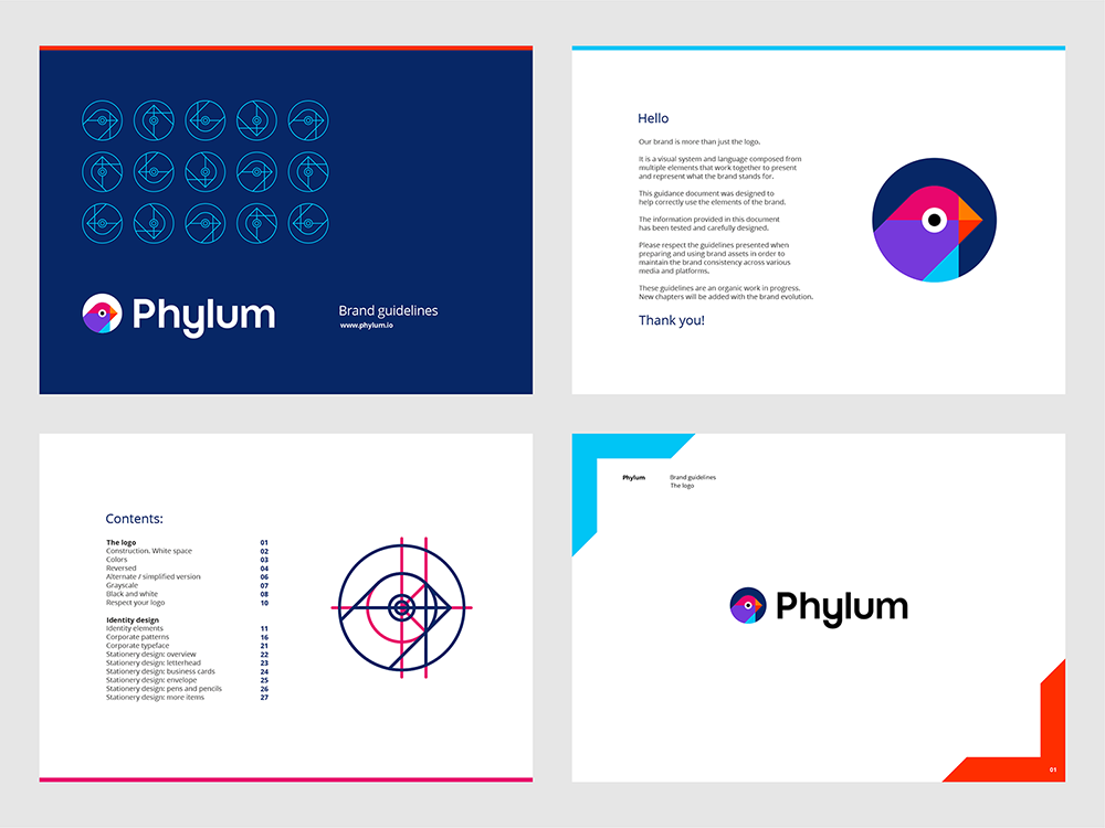 Phylum logo brand manual guidelines software composition components analytics by Alex Tass