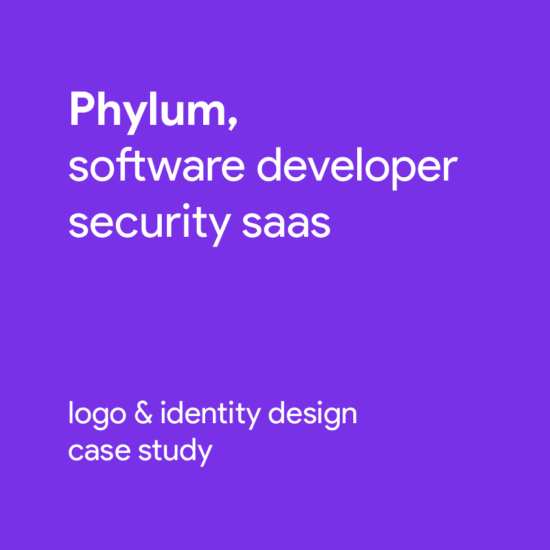 Phylum software composition components analytics finch logo identity design