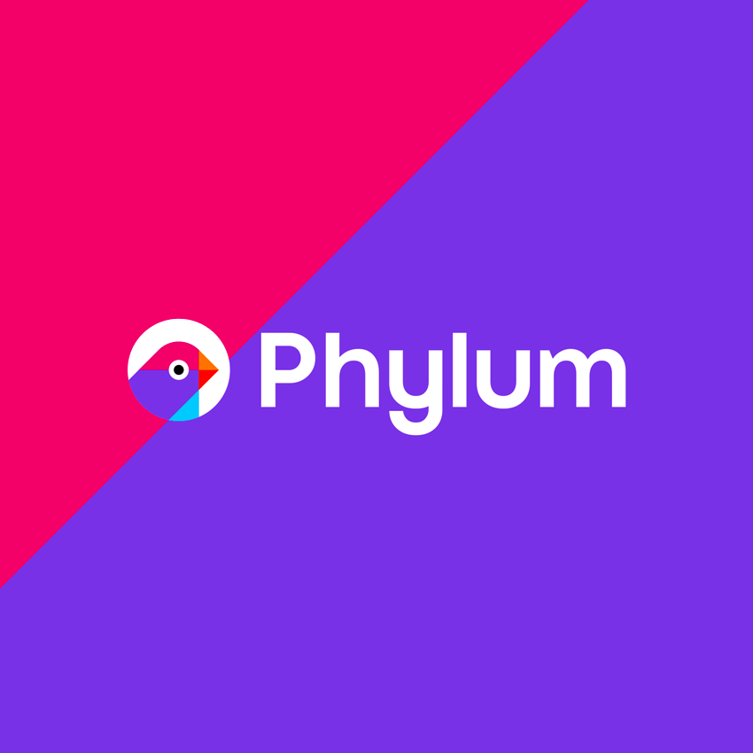Phylum software composition components analytics finch logo identity design by Alex Tass