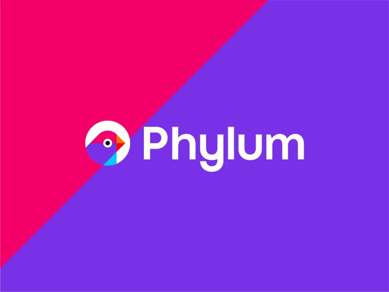 Phylum software development security finch logo design by Alex Tass