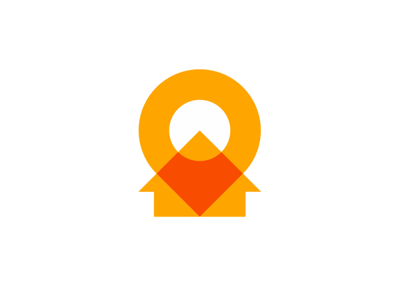 Pin pointer house arrow property investment consultant logo design by Alex Tass