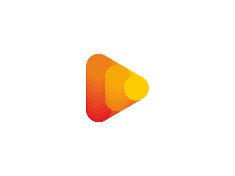 Play icon chart logo design symbol by Alex Tass