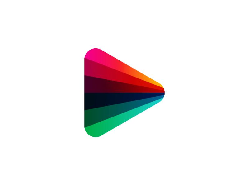Play spectrum perspective, logo symbol exploration logo design by Alex Tass