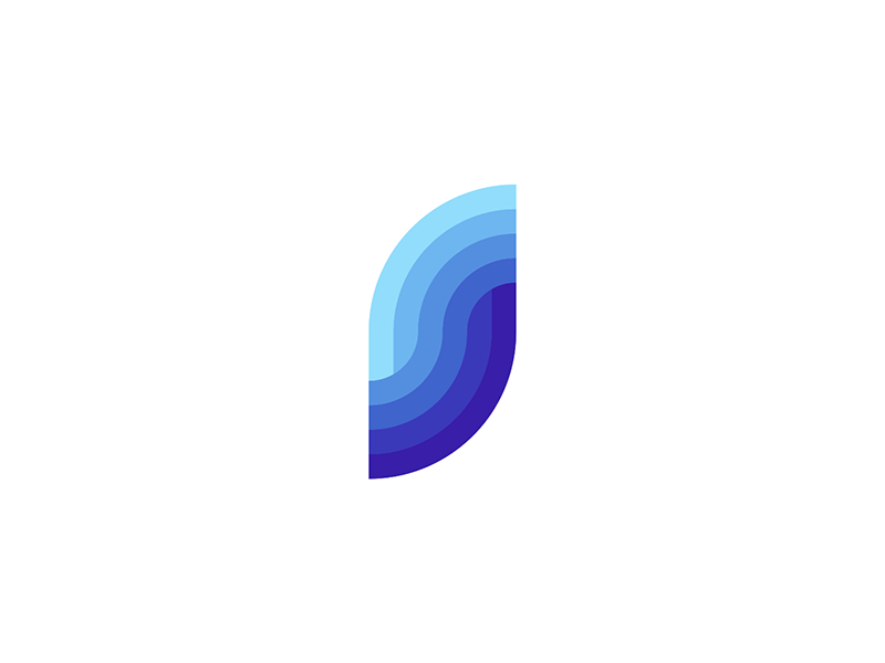 S sea waves letter mark monogram logo design by Alex Tass
