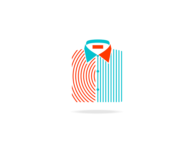 Sport shirt business office casual Italy italian icon logo design by Alex Tass