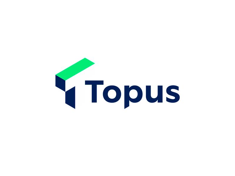 Topus 1 t letter mark negative space architecture 3d scan print logo design by Alex Tass