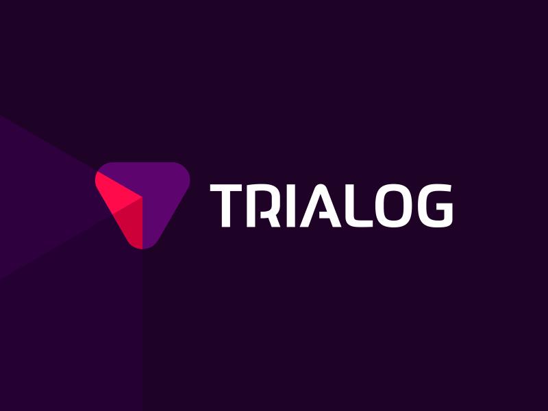 Trialog TR AI Software dialog logo design by Alex Tass