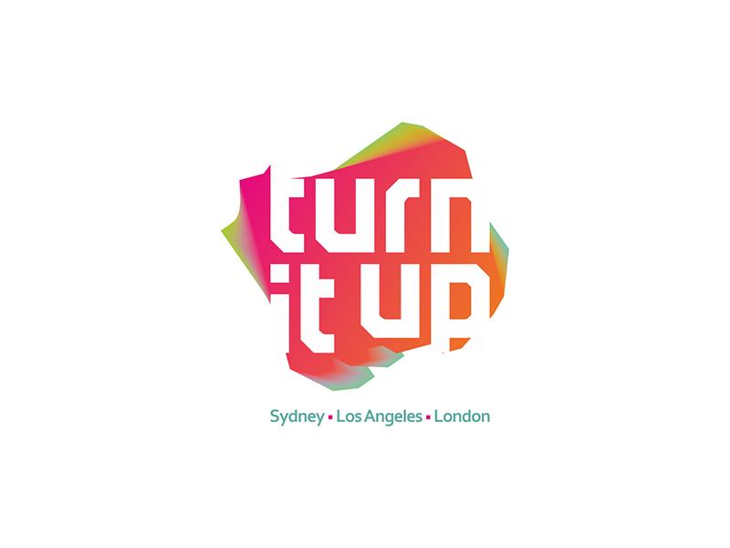 Turn it up music management company logo design by Alex Tass