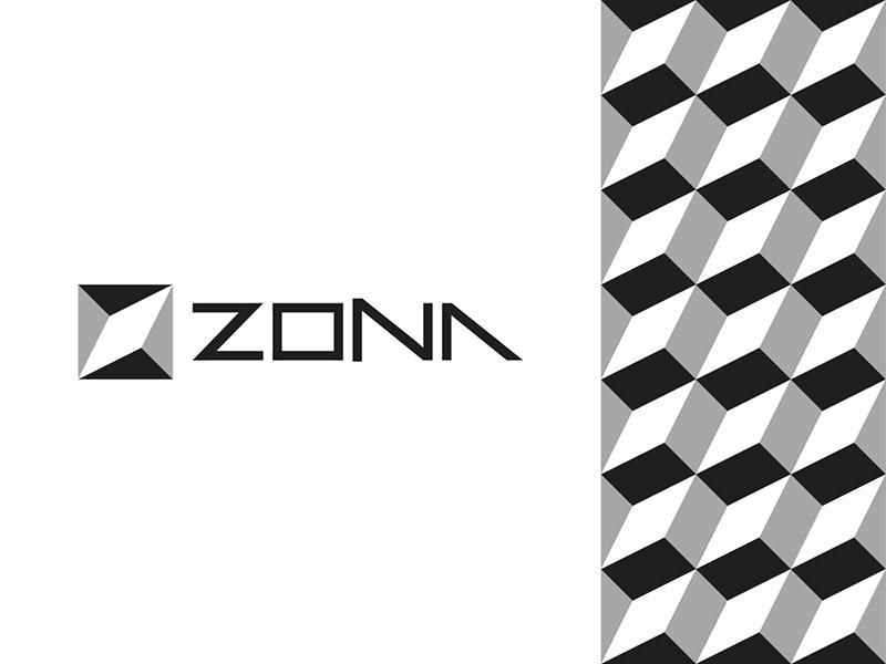 Zona architecture interior studio modular logo corporate pattern design by Alex Tass