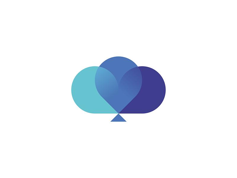 dreams balloons cloud heart tree logo design by Alex Tass