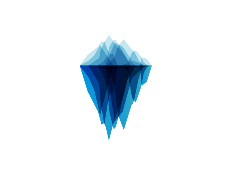 iceberg tech geometric blends logo design by Alex Tass