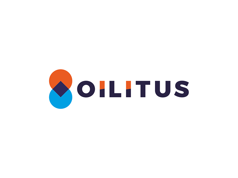Oilitus oil gas station pin pointer drop droplet symmetry logo design by Alex Tass