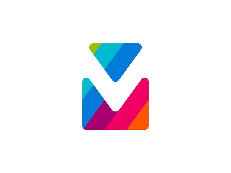 via mail double vm v m monogram logo design by Alex Tass