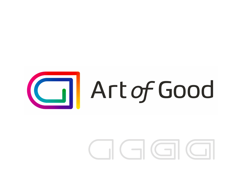 Art of Good, AG monogram, art and charity logo design by Alex Tass