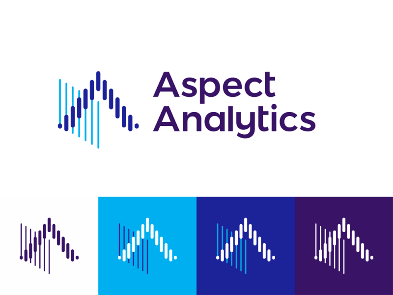 Aspect Analytics, logo design for biomedical IT tools by Alex Tass