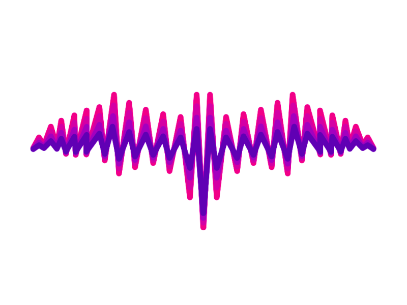 Bat + sound wave, music logo design by Alex Tass