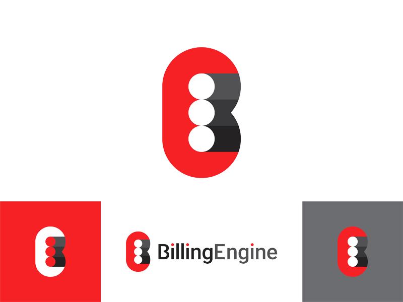 Billing engine pistons letter mark logo design by Alex Tass