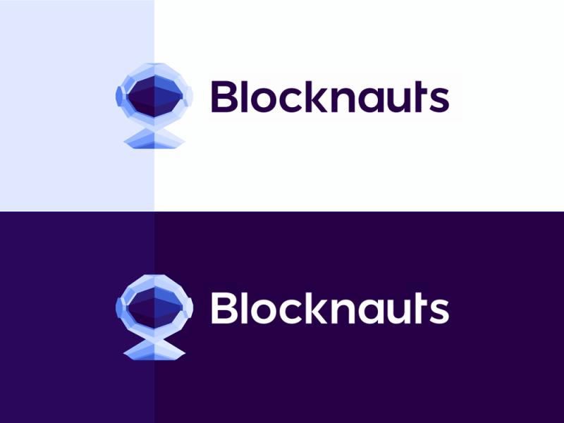Blocknauts, logo design for blockchain consultancy firm by Alex Tass