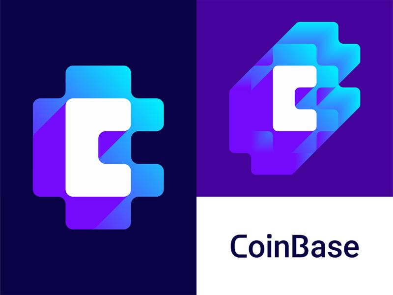 Coin base crypto coins bitcoin currency logo design