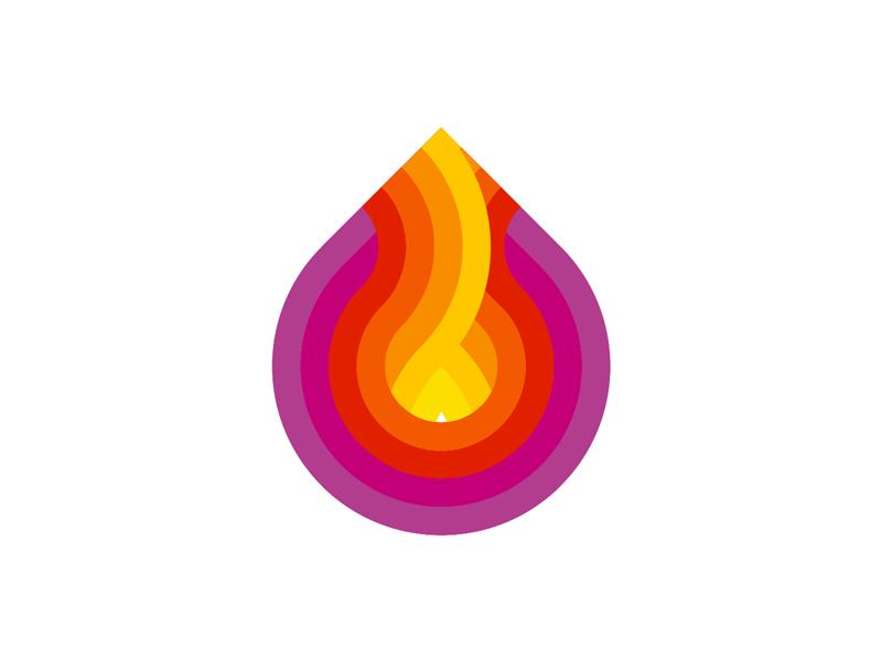 Fire colorful logo design exploration by Alex Tass