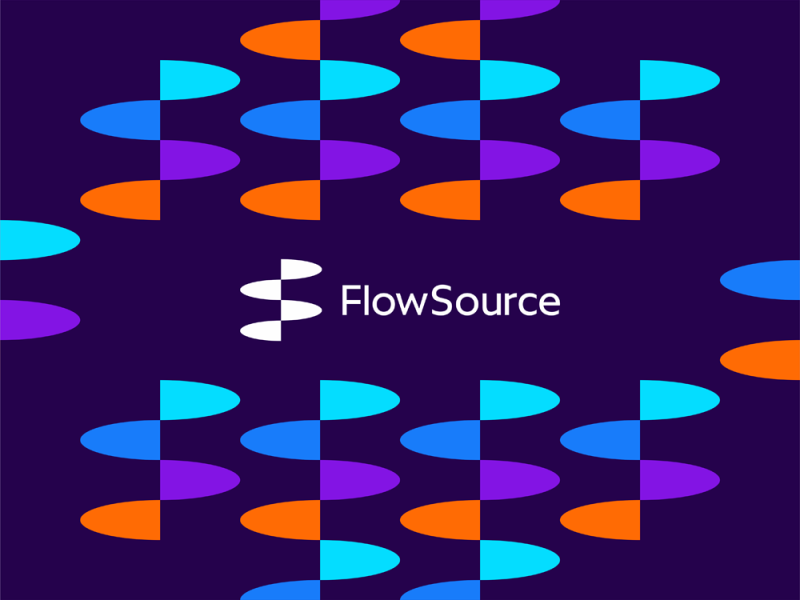 FlowSource flowing FS monogram for productivity app logo design by Alex Tass
