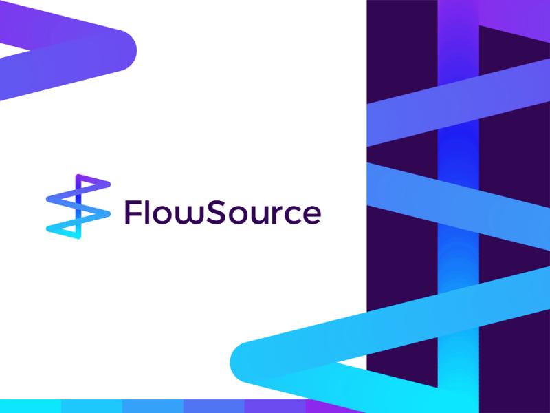 FlowSource looping FS monogram for productivity app logo design by Alex Tass
