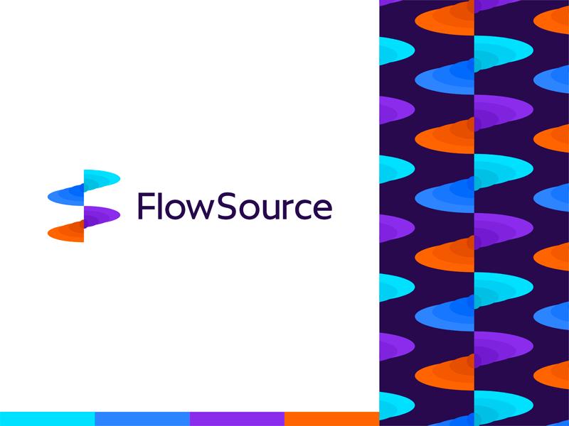 Flowsource productivity app fs monogram logo design by Alex Tass