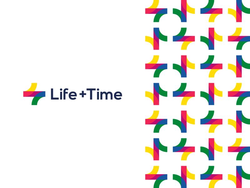 Life + Time, management app logo monogram + pattern design by Alex Tass