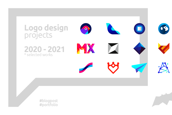 Logo design projects created in 2020 2021 by Alex Tass