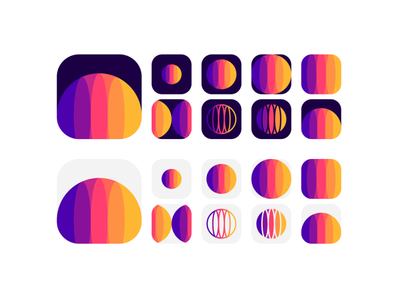 Planet explorations from logo design symbol to app icon by Alex Tass