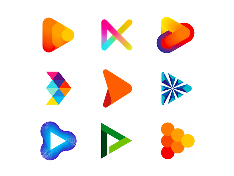 Play video games multimedia symbol icon logo design by Alex Tass