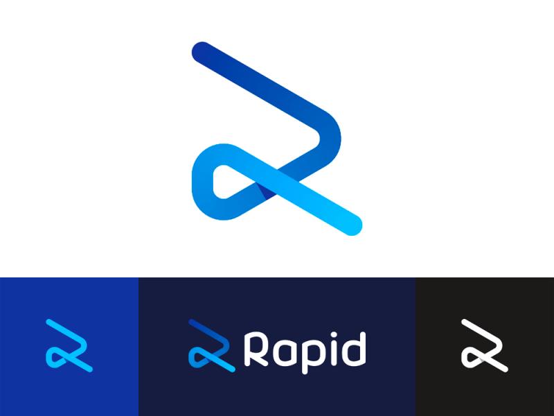 R Rapid rabbit, logo design for workforce management software by Alex Tass